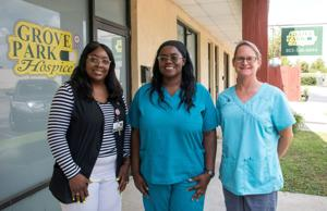 """""""Some people are terrified at the thought of hospice,"""" said Danielle Faust, LPN (Home Health), with Grove Park Hospice. ..."""