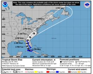 Tropical Storm Elsa is expected to weaken into a tropical depression by the time it reaches The T&D Region, but the storm could still bring a lot of rain. ...