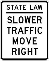 """A new South Carolina law will require drivers to """"move right"""" except when passing, according to the S.C. Department of Public Safety. ..."""
